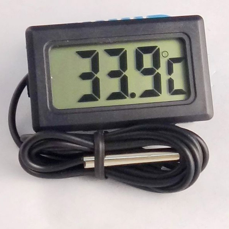 Thermometer Hygrometer Trend Freezer Fish Tank Water Bath Room House Temperature Sensor Black Heat Indicator Digital Thermometer(China (Mainland))