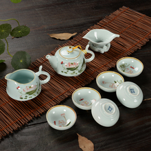 9 PCS Set new travel chinese tea set ceramic portable kung fu teaset tea cup Chinese