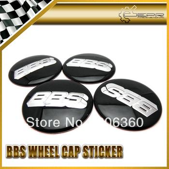 4pcs/set For BBS Black White Wheel Center Cap Cover Hub Sticker 65mm/2.55inch JDM