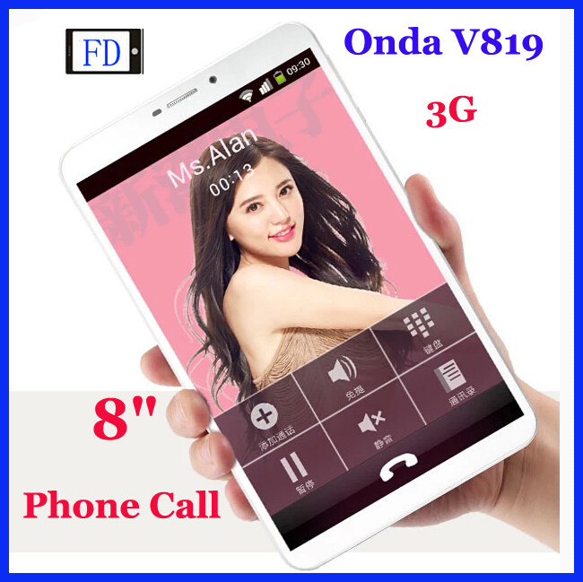 8 inch Onda V819 3G Phone Call Tablet PC MTK8382 Quad Core Android 4.2 Bluetooth GPS Built in 3G Flash light Camera(China (Mainland))