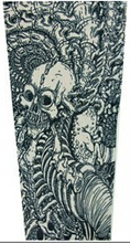 Designed Body Fake Temporary Tattoo Sleeves Men Women Sport Sleeve Art Arm Stockings Slip Tiger Crown Heart Skull(China (Mainland))