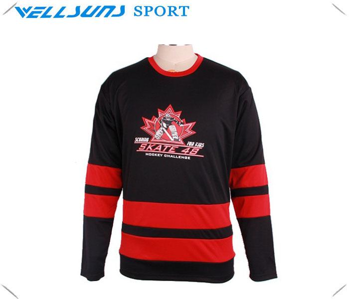 sublimation custom hockey jersey/team ice hockey jersey made in China, ice hockey uniform shirt(China (Mainland))