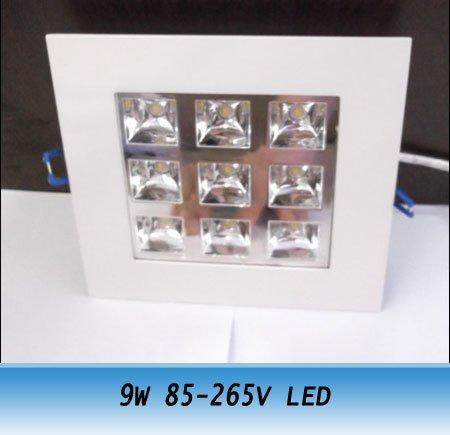 10pcs 9W high power led ceiling light grille Lamps new 85V-265V<br><br>Aliexpress