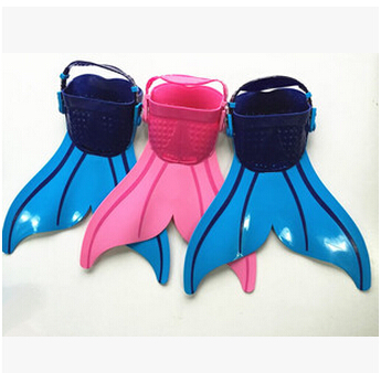 Adjustable Wave Fins kids Swimming Fins Training Flippers Mermaid Tail diving scuba snorkel shoes equipment feet monofin(China (Mainland))