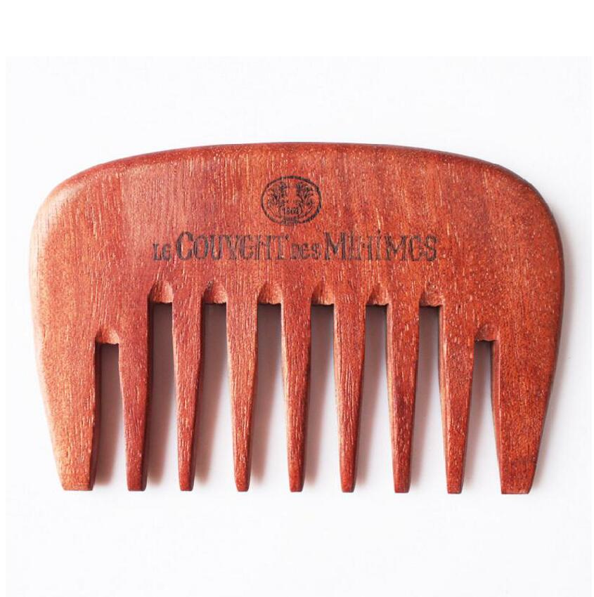 Engraved Your Logo Wide Teeth Natural Red Amoora Wooden Comb Straight Pocket Wooden Beard Combs Custom 11*7.5*0.8   FH-10091<br><br>Aliexpress