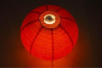 Colorful mini LED paper lantern halloween accessories,