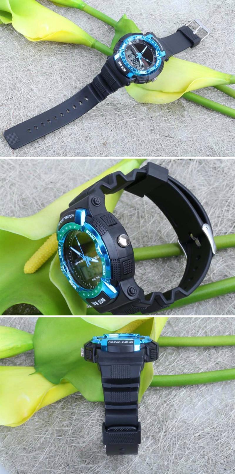Новый стиль Открытый Военный Часы Цифровые Наручные Часы функциональный низкоуглеродистой зеленый водонепроницаемый спортивные часы Унисекс часы