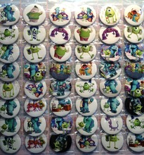 Monsters University 4.5 CM 24/32/40/48x lot set new Cartoon& Animation PIN back BADGES BUTTONS PARTY BAG GIFT CLOTH