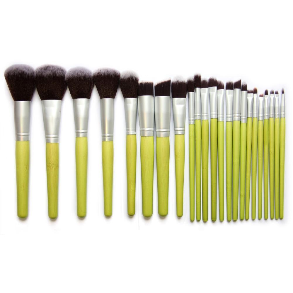 23pcs/set Hot 2016 Professional Makeup Brushes Bamboo Make up Brush Set Synthetic Hair Face Powder Foundation Brushes Set GMR73(China (Mainland))