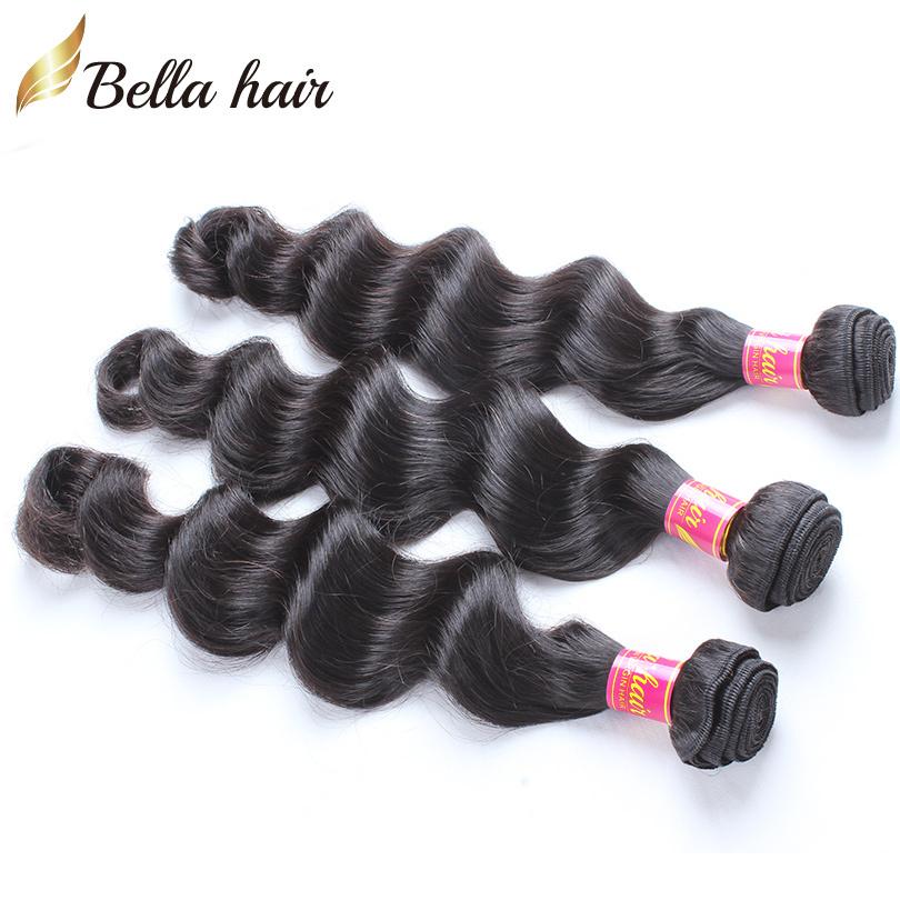 Bella Hair 3 Bundles Brazilian Loose Deep Wave Unprocessed Remy Human Hair Weft Brazilian Virgin Hair Dyeable Natural Color(China (Mainland))