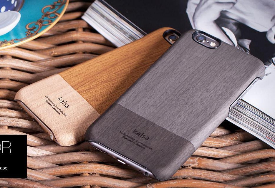 New Arrival!Kajsa High-quality Outdoor Collection Wood Pattern Back Cover For iPhone 6 Leather Case Luxury(China (Mainland))