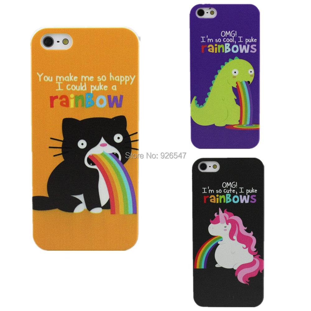 Гаджет  2015 New Fashion Creative Animal Rainbow Design Phone Case Cover For Apple iphone 4 4S 5 5S 5C 6 6 Plus None Телефоны и Телекоммуникации