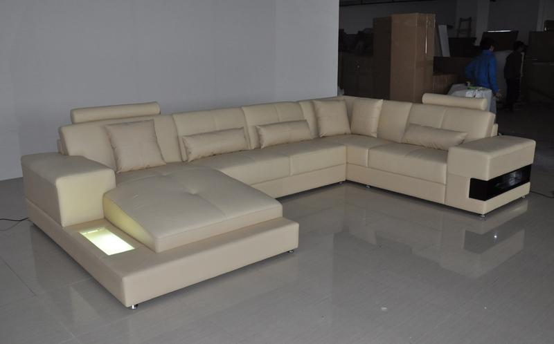 beige color high end sofa set(China (Mainland))