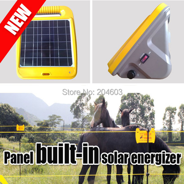 0.5 joule panel built-in solar electric fence energiser with internal battery(China (Mainland))