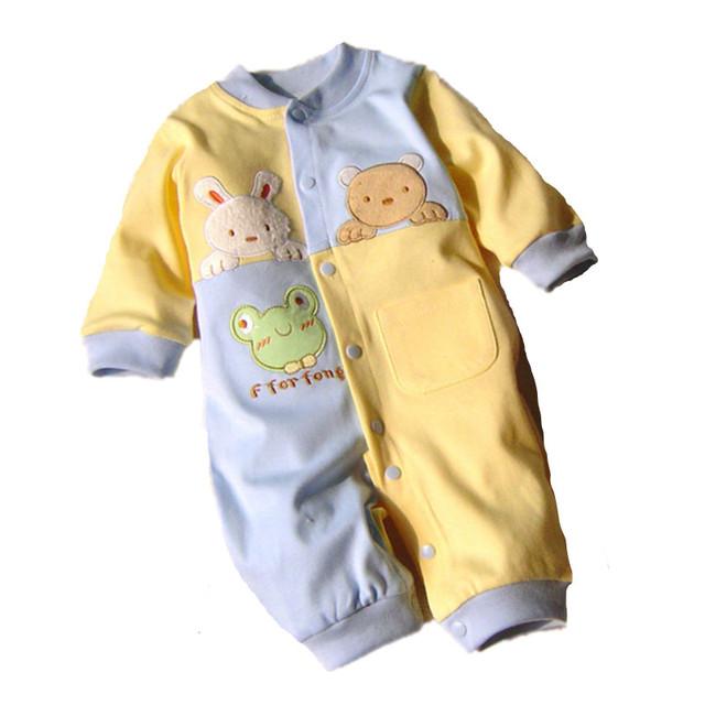 2016 Новый Baby Rompers Хлопка С Длинным Рукавом Детская Одежда Комбинезоны для Новорожденных детская Одежда Мальчик Девочка Комбинезон Ropa Bebes Комбинезон P10
