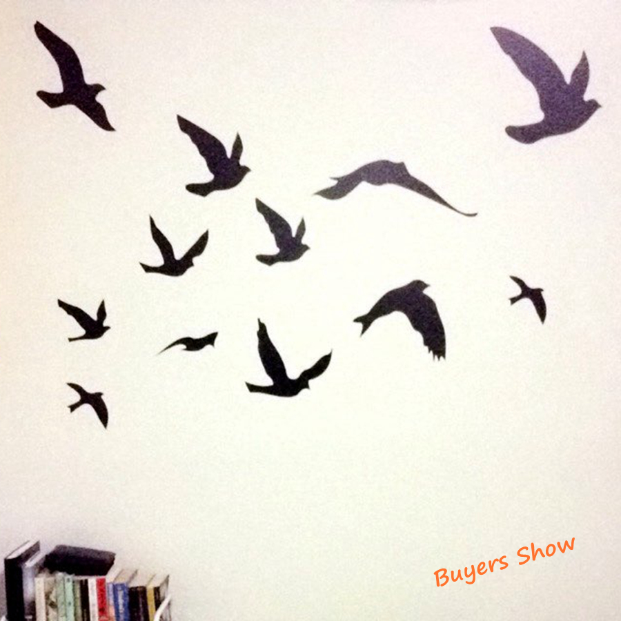 birds flying wall decal www galleryhip com the hippest