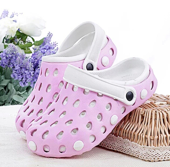 Candy Color Garden Shoes for Women Couple Slippers Summer Hole Shoes Soft Fashion Mules