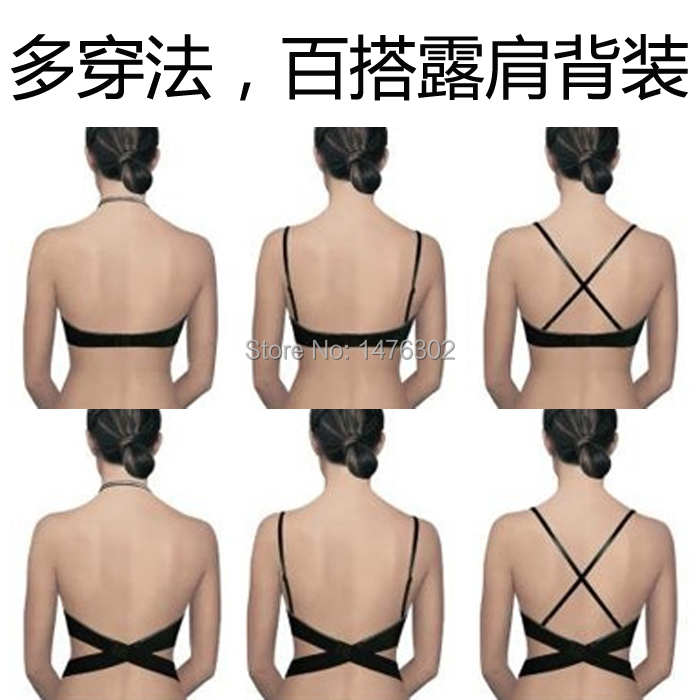 2014 Victoria Style New Fashion Deep V Low Cut Women Sexy Halter Push Up Bra Backless Invisible Convertible Seamless Bra(China (Mainland))
