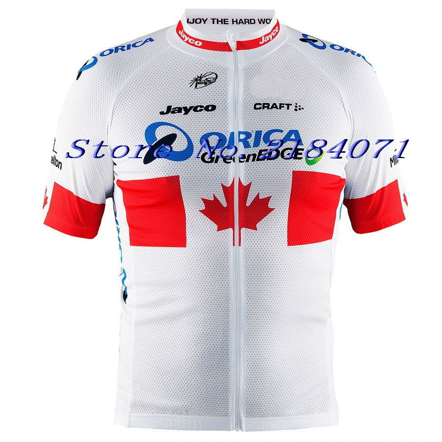2015 ORICA GREENEDGE PRO TEAM CANADA ONLY Ropa Ciclismo Short Sleeve Cycling Jersey Bike Bicycle Wear Size XS-4XL(China (Mainland))