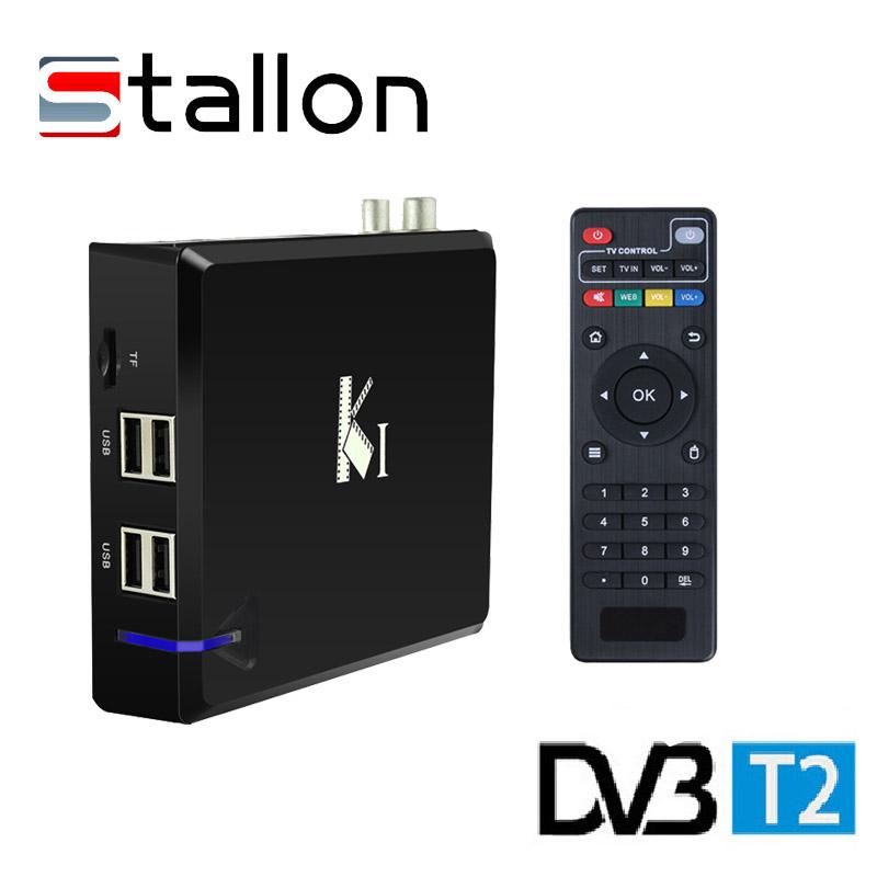 Фотография Original K1-T2 Android 4.4 TV Box OTT+DVB-T2 Terrestrial TV Receiver K1 KI T2 DVB T2 Amlogic S805 Quad Core 1G 8G KODI Smart TV