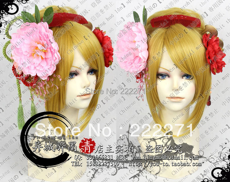 FREE SHIPPING Anime Vocaloid rin len Short Party Wig Full Copsly Costume Wigs Costume Heat Resistant + Cap<br><br>Aliexpress