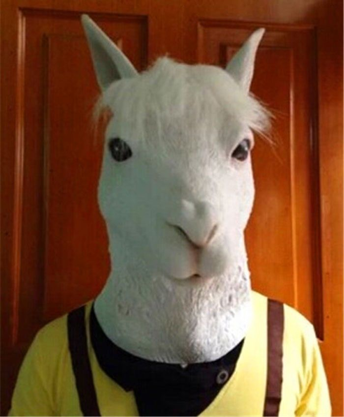 costume fee picture   more detailed picture about alpaca mask funny animal head latex horse mask