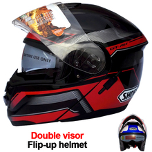 Newest 2015 Shoei Double Lens Motorcycle Helmet Modular Capacete Casco Protective Gear (China (Mainland))