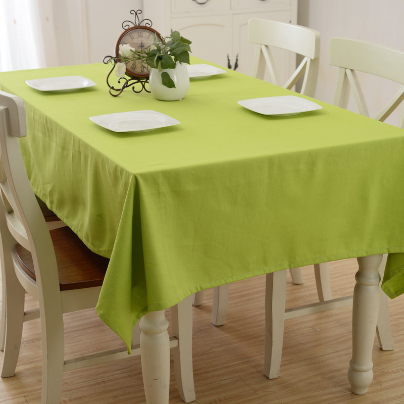 SunnyRain Solid Color Table Cloth Cotton Tablecloth Rectangle Dining Table Cover tafelkleed Table Linen nappe 8 Size Available(China (Mainland))