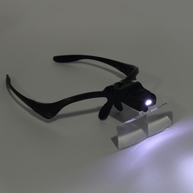 1X 1.5X 2X 2.5X 3.5X Lens Adjustable Loupe Headband Magnifying Glasses Jeweler Watch Repair Magnifier with LED Magnifying