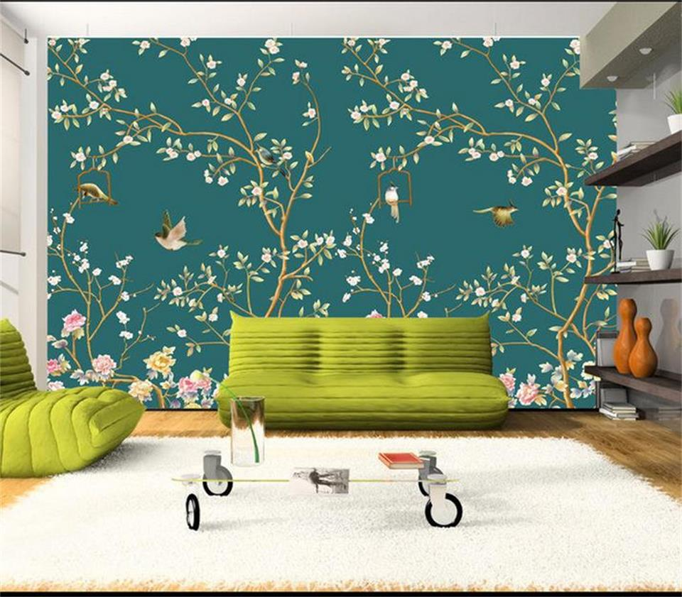 Popular bird wall mural buy cheap bird wall mural lots for Bird mural wallpaper