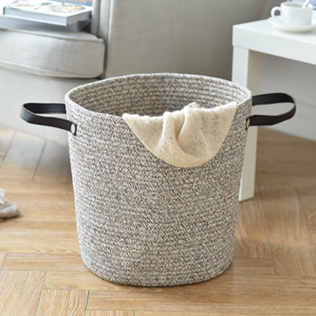 Nordic Cotton Rope Woven Storage Baskets With Large Dirty Clothes Laundry Basket Kids Toy Storage Bin Sundries Organizer