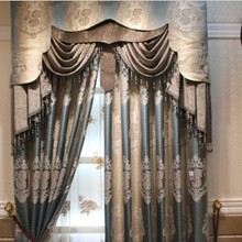 Blackout curtain with rings or hooks,free triming for different size ,1659 ,ready curtains and voile,curtain decor(China (Mainland))