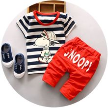 2016 Newest Summer baby sets boys clothes cotton o-neck shorts with chracter print children toolders clothing set suit A122-A159(China (Mainland))
