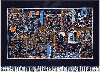 Китайские традиционные черты батик ткань гобелен украсить гобелен народная ручной работы