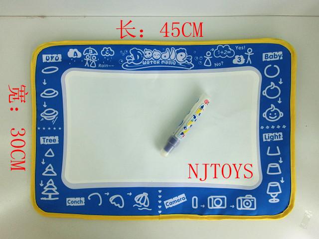 50pcs/lot Magic Water Doodle Mat &1 Magic Pen/Drawing Board /Water Mat/aquadoodle drawing mat(China (Mainland))
