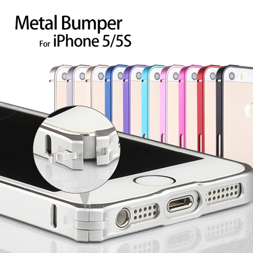Aluminium Metal Bumper Frame Cover Anti Knock Case for iPhone 5 5S Ultra Thin Slim 13 colors 0.7mm Free Shipping 2014 New(China (Mainland))