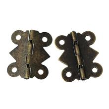 Door Butt Hinges(rotated from 90 degrees to 210 degrees)Antique Bronze 4 Holes 25mm  x 20mm ,50 PCs 2016 new(China (Mainland))
