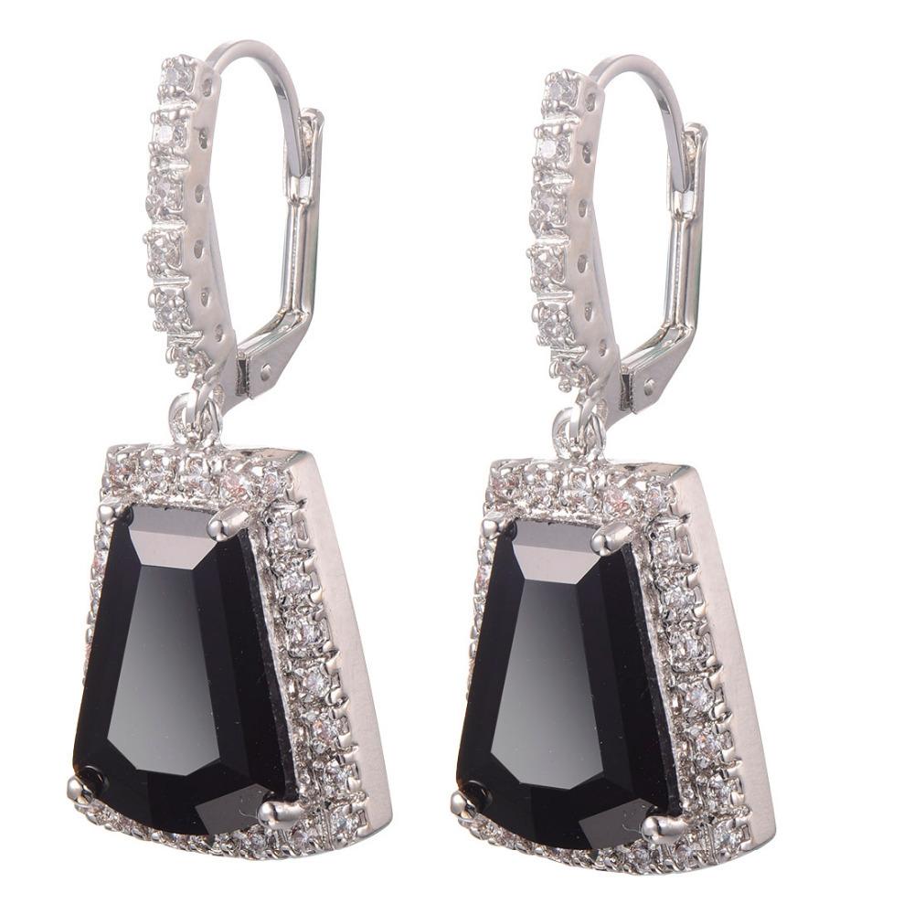 Black onyx Women Earrings 925 Sterling Silver Free Shipping Newest Fashion Jewelry Earrings TE713<br><br>Aliexpress
