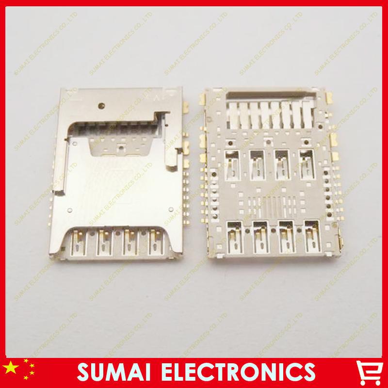 25pcs Original New SIM card holder tray SIM card slot Connector for samsung note3 I9200 I9205 I9208 N900 N9005 N9006