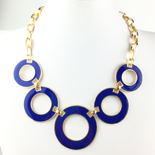 New 7 Color Collar Necklaces Pendants Fashion Statement Metal Choker Necklace For Women 2015 Vintage Jewelry Accessories gift