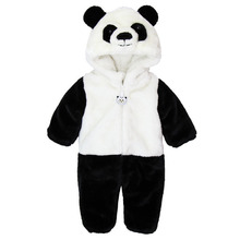 Free Shipping 2015 New Cute Animal Panda One Piece Long Sleeve Cotton Newborn Baby Romper Baby Costume Clothing Clothes(China (Mainland))