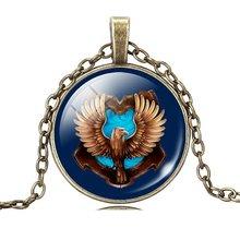 Vintage Glass Cabochon Bronze Pendant Necklace Summer Style Women Jewelry Fashion Harry Potter Statement Choker Necklace 2015