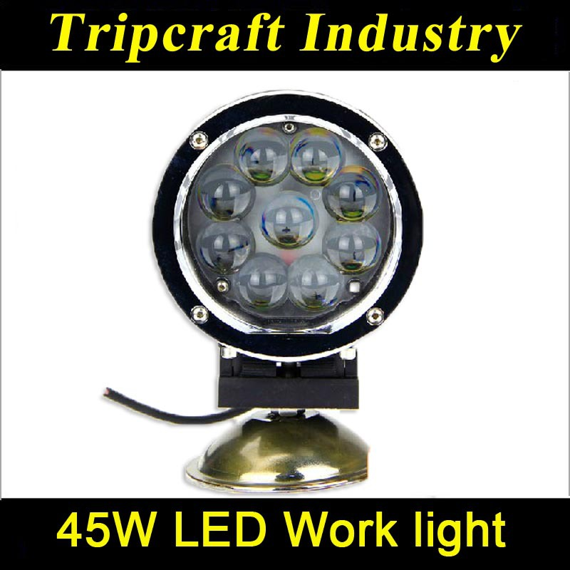 Fishing marine atv suv led 45w work light led for truck from China supplier 3825lm(China (Mainland))