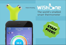 Newest Wishbone Smart Temperature Sensor Object Ambient Baby Non-contact Infrared Temperature Measurement Work With Smartphone(China (Mainland))