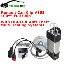 2016 Newest V153 Renault Can Clip Diagnostic Interface Best Renault Car Scanner Tool Multi-Languages Can Clip Renault Full Chip(China (Mainland))