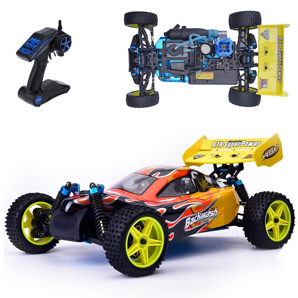 hsp rc car 110 scale models nitro gas power 4wd remote control car two speed off road buggy 94166 high speed kid toys