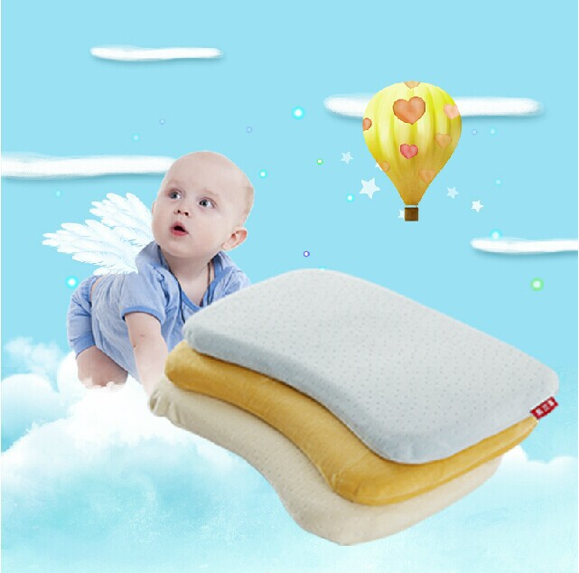 Гаджет  High Quality Memory Foam Baby Pillow Newborn Shape Pillow to Sleep Ideal to Baby Deep Sleep and Health 25cmx45cmx3cm  None Детские товары