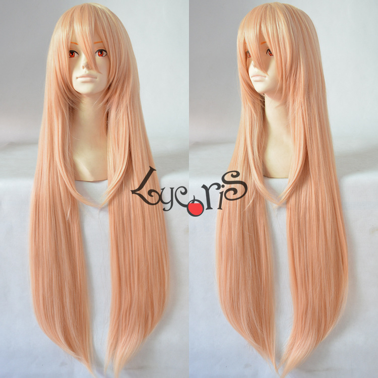 2015 New Arrival Akatsuki no Yona Swansea Suon Women Girls Long Light Milk Orange Color Anime Cosplay Wig + Free Wig Cap<br><br>Aliexpress