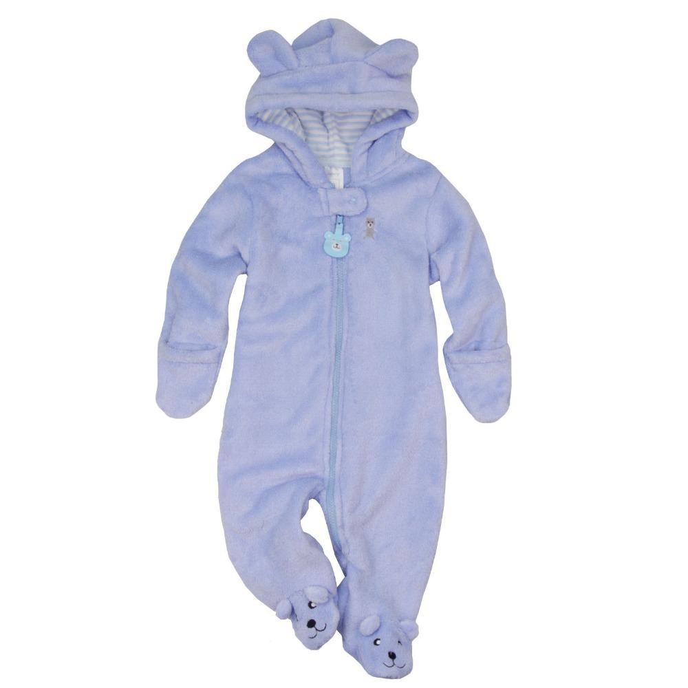 Осень зима детские комбинезоны младенческой цельный новорожденный брендов-возчиков толстовки комбинезон девочка мальчик одежда