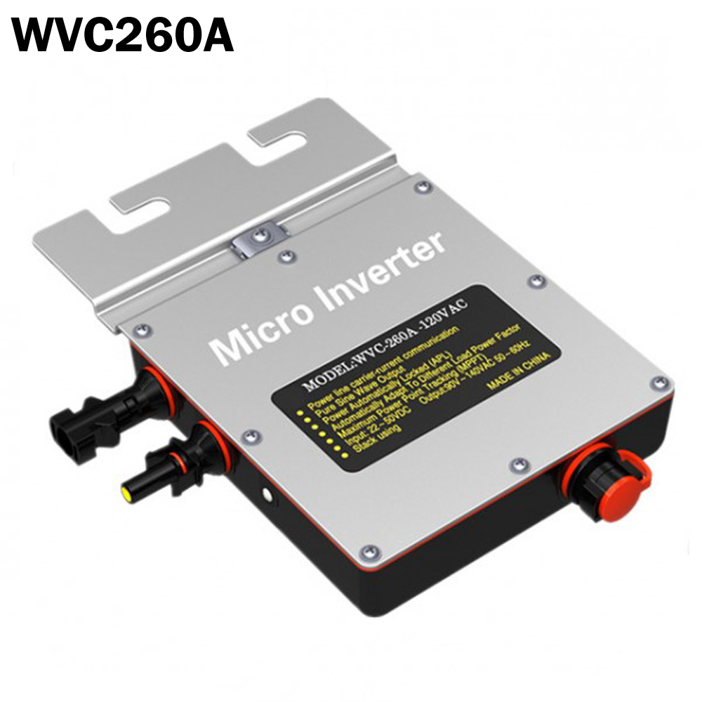260W solar grid tie micro inverter IP67 DC22V~50V MPPT Solar Inverter with Power Line Carrier-current Communication(China (Mainland))